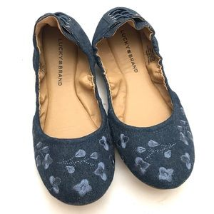Lucky Brand Echo 2 Embroidered Flats Ballet 10